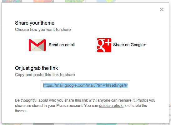Пользовательские темы Gmail